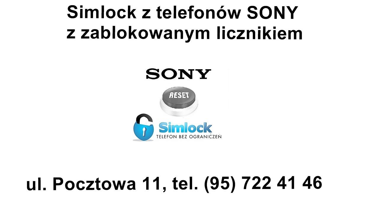 Chcesz sciągnąć simlocka z telefonu Sony z zablokowanym licznikiem ?